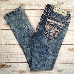 """Rock Revival Low Rise Straight Leg Jeans 34"""" L"""